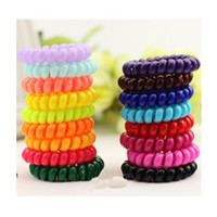 hair remover gel - 12Pcs Women Scrunchy Candy color Telephone Cord Elastic Ponytail Holders Hair Accessories hair ropespring rubber band ha