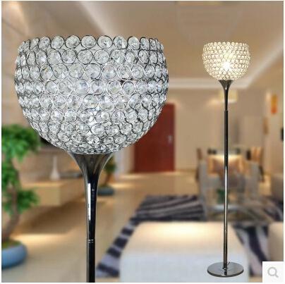 modern remote control floor lamp for home crystal floor light. Black Bedroom Furniture Sets. Home Design Ideas