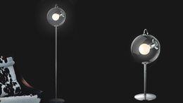 Wholesale new modern creative soap glass ball floor lamps for living room bedroom bar hotel E27 bulb V