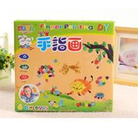 best educational books - Set DIY Finger Painting Sets Paint Coloring Book Best Children Gift Learning amp Educational Kids Fingerprint Drawing Toys