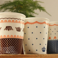 ceramic pieces - New IKEA Zakka ceramic imitation lace cups pieces a set Office coffee cups Mugs Wedding Gifts Home decoration