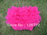 Wholesale Fashion Baby Shorts Diapers pp Pants Bloomer Baby Toddlers Frilly Satin Knickers Ruffle Panties Pettiskirt Shorts Bloomer