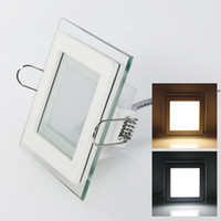 Precio de Plexiglás iluminadas-Envío 10W / 15W / 25W plexiglás llevó la Plaza panel rebajado techo de la pared Downlight AC85-265V blanco / caliente Iluminación de interior blanca