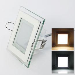 Envío 10W / 15W / 25W plexiglás llevó la Plaza panel rebajado techo de la pared Downlight AC85-265V blanco / caliente Iluminación de interior blanca lighted plexiglass deals desde plexiglás iluminadas proveedores