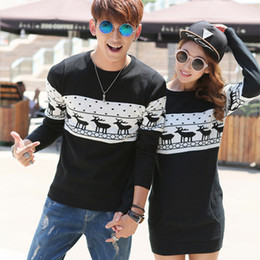 Wholesale Cashmere Men Sweater With Deer Winter Couple Matching Christmas Sweaters Reindeer Pullover Knitted Brand Polo Ugly Sweater