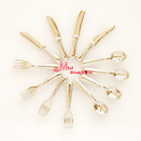 Wholesale SILVER Spoon Fork Knife Dollhouse Miniature DM01 Quality
