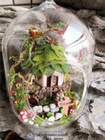 Wholesale Jungle Witch wooden doll houses miniature assembling dollhouse diy glass ball toys kit
