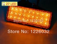 Lente rectangular de color ámbar al por mayor de la parte trasera de color naranja claro cola Reflector LED de luz de freno de la motocicleta parada luz indicadora Truck cola Remolque