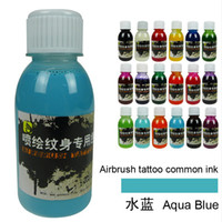 art supplies phoenix - Bottle Golden Phoenix Temporary Airbrush Tattoo Common Ink For Body Art Paint New Package Tattoo Supplies