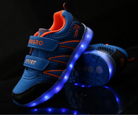 Wholesale 7 Colors LED Luminous Shoes boys and girls Sneakers USB Charging Colorful kids LED lights Sneakers glowing shoes