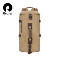 Wholesale New Men Large capacity Canvas Backpack Tactical Military Men Bag Men s Travel Bags Mountaineering Backpacks rucksack