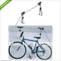 bicycle hoist - New Bike Bicycle Lift Ceiling Mounted Hoist Storage Garage Hanger Pulley Rack