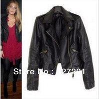 leather jackets for women - women clothing coats for woman women jackets winter denim jacket PU leather jacket rivets