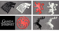 Wholesale pieces set Game Of Thrones Metal Sticker Families Symbols LANNISTER STARK TARGARYEN BARATHEON GOT Stickers