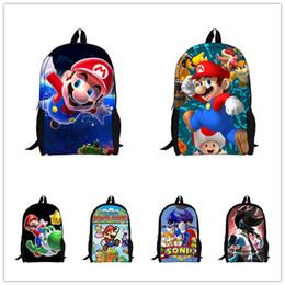Wholesale Super Mario Backpacks For Kids - Wholesale-2015 Hot Sale Children's 3D Cartoon Backpack,Cool Outdoor Super Mario School Backpack for Kids,Mario Bros Shoulder Bags for
