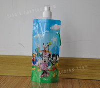 acid free plastic bags - 20Pieces Cartoon design Non toxic foldable bag Outside sports drinking bottles
