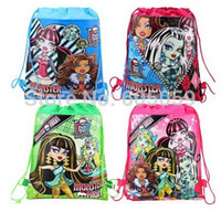 backpacks school supplies - two sides print monsters High girls cartoon children s backpack school bags party supplies for kids hot selling uhu070