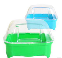 bathtub doors - Good quality mice bathtub hamster bath bathroom with door small pet supplies mix color w3022