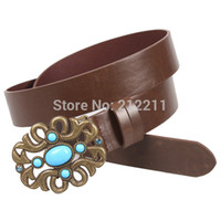 western rhinestone belts - Western Stone Belts New Arrival PC Vintage Rhinestone amp Turquoise Brown Belts For Women Factory Directly Sale BS