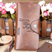 bailini genuine leather - bailini wallet long carteira men New Men s Vintage Wallet Fine Bifold Brown Genuine Leather amp Pu Bailini Purse Wallets