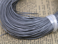 Wholesale m Metallic Grey Real Leather Necklace Cord String Without Clasp mm