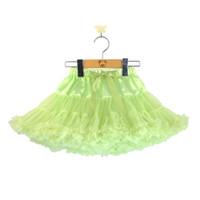 Wholesale colors Baby girls fluffy chiffon tutu pettiskirt Girls princess skirt Ballet dance tutu skirt for years