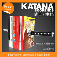 magnetic paper - UK Creative Katana Ninja Magnetic metal Knife And Sword Bookend Creative furnishing articles Gift for student
