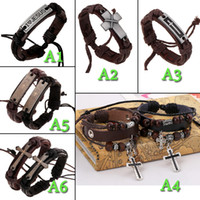 jesus bracelets - Couple models unisex I love Jesus Scripture the cross Christian religious jewelry hand woven leather alloy bracelet