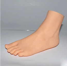 Wholesale Shoe Mannequins - Wholesale-Free shipping lady left foot Mannequin stand display jewelry display foot model shoe feet mould