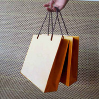 Cheap Wholesale-Free shipping,10pcs lot brown kraft paper bag with handle Party Gift Paper Bags 21.5X21.5X7cm Kraft bag with handle