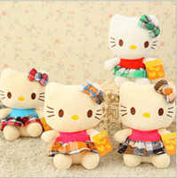 Wholesale new hot sell sitting height cm hello kitty plush toys pure pp cotton Stuffed Dolls Random color SS0126