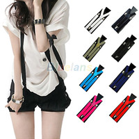 Wholesale Mens Womens suspenders Clip on Suspenders Elastic belt Y Shape Adjustable Braces Colorful NS