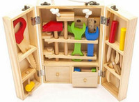 Wholesale hot selling wood toys for children educational Simulation repair multifunctional toys toolbox tool toys for boys ages