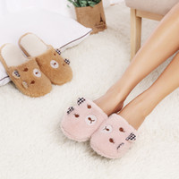 house shoes - Slipper Factory Home Shoes For Women Chinelos Pantufas Adulto Fashion Lovely Bear Indoor House Slippers For Winter