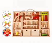 baby management - Tool Toys Wooden emulation Child maintenance management toolbox Nut disassembly Toys Baby Puzzle Play house Playsets