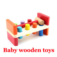 baby moles - New Top quality baby Toys kids WhacA Mole wooden toys Educational Classic Games Toy tools for boys