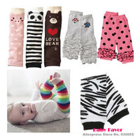 Unisex Others Summer Wholesale-1pair Baby Boy Girls Infant Toddler Kids Rainbow strips Bear Pig Panda Leggings knee high Socks Leg Warmers Casual Autumn Wear