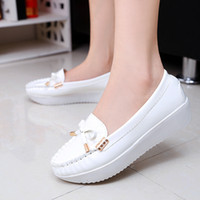 atmosphere shoe - high primer on both sides of buckle leather bow singles shoes nurses shoes stylish atmosphere S0048