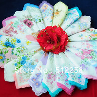 ladies handkerchiefs - Cutter Craft Lady s Floral Hanky Handkerchiefs For Wedding Party Best gift