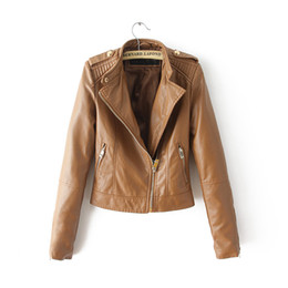Brown Leather Bomber Jacket Women Online | Brown Leather Bomber ...