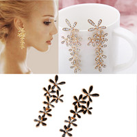 Wholesale brincos grandes bijoux earings fashion jewelry dangle earring pendientes crystal snowflake long wedding earrings for women