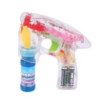 bubble gun - Light Up LED Transparent Bubble Gun Outdoor Toys Kids Water Bubble Gun Soap Bubble Blower