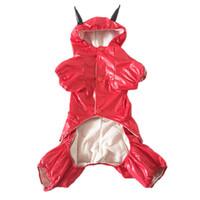 bad dog clothing - Bad Strong Man Style Medium Large Pet Dogs RainCoat By china post new clothing for dog