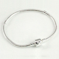 Wholesale Sterling Silver mm Snake Chain Fit Pandora Bracelet Charm Bead Bracelet Gift For Men Women cm
