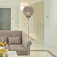 Wholesale Modern K9 crystal floor lamp sitting room the bedroom the head of a bed study golden lamps YSL FLC01