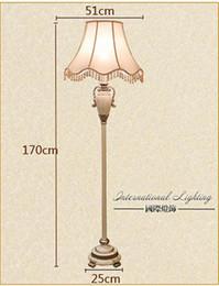 Wholesale-Promotion Quality Europe Style Fabirc Lampshade Luxury Floor Lamp, Floor Lights Bedroom Beside Lighting Wholesale Free Shipping