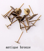 antique flat irons - mm Antique Bronze Gold Rhodium Earring Stud Ear Nail Iron Flat Base Cup Posts Earring Findings F26