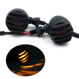 Wholesale X Metal Bullet Black Amber Bulb Motorcycle Turn Signal For Harley Suzuki KAWASAKI Modification Parts
