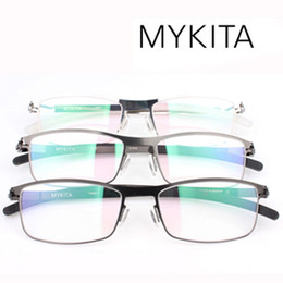 Descuento marcos libres Marca por mayor-Libre del envío Nueva Mykita DAVID Titanium metálicas ultra-ligeras gafas gafas marco gafas de memoria