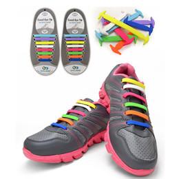 Wholesale-Koollaces Elastic No Tie Silicone Rubber Elastic Shoelace Sneaker Shoe Laces Running Shoelaces Athletic Shoe laces 16 PCS